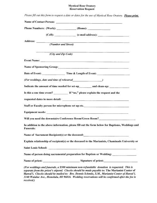 MRO Reservation Request Form0001
